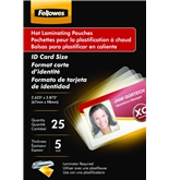 Fellowes Hot Laminating Pouches, ID Tag, Not Punched, 5 mil,...