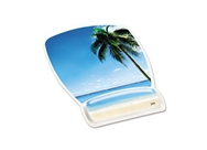 3M Mouse Pad with Gel Wrist Rest, Beach Design(MW308BH)