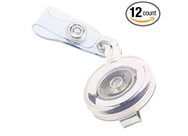 "Advantus Translucent Retractable ID Card Reel, 34"" Extension..."