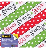Scotch Gift Wrap, Happy Verbiage Pattern, 25-Square Feet, 30...
