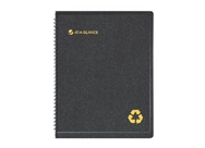 AT-A-GLANCE Recycled Weekly/Monthly Appointment Book Black 8...