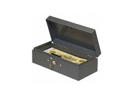 "MMF Industries Cash Box, Piano Hinges,Key Entry,10-1/4""x4-3/..."