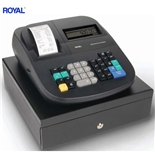 Royal 500DX 16-Department with 999 PLUS & 8-Clerk ID''s and 4-Tax Rates Cash Register + Counterfeit Detector Pen + 6 Thermal Register Paper Rolls + 2 Black Ink Rollers