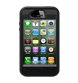 OtterBox Defender Series Hybrid Case/Holster for iPhone 4/4S - 1 Pack - Carrying Case - Black