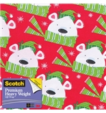 Scotch Gift Wrap, Winter Wishes Bear Pattern, 25-Square Feet...