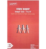 Staples Ledger Size Copy Laser Inkjet Printer Paper, 11 x 17...