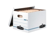 Bankers Box Store/File Basic-Duty Storage Boxes with Lift-Of...