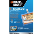 BLACK + DECKER TimeShield Thermal Laminating Pouches, ID Badge with Clips, 5 mil - 100 Pack (LAMID5-100)