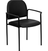 Flash Furniture BT-516-1-VINYL-GG Black Vinyl Comfortable St...