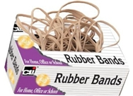 Charles Leonard Rubber Bands, Tissue-style Box, #10, Beige/N...