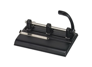 Master Adjustable 40 Sheet 3-Hole Punch, Black (MAT1325B)