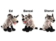 "Disney Store The Lion King Hyena Stuffed Animal Gift Set featuring 11"" Ed, Banzai and Shenzi Plush Dolls"