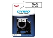 "DYMO 16956 D1 Permanent Polyester Label Tape, Black on White, 3/4"" x 18'"