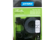 "DYMO Labeling Tape, D1, Split Back Easy Peel adhesive, 1/2"" x 23', (45113), Black Print on White Tape"