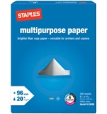 Staples Multipurpose Copy Fax Laser Inkjet Printer Paper, 8 ...