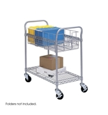 Part No. 5235GR Safco Wire Mail Cart, 26.75 Inches Width x 3...