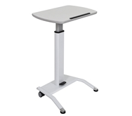 Luxor Pneumatic Height Adjustable Lectern Model Number- LX-PNADJ-WH