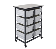 Luxor  Mobile Bin Storage Unit Model Number- MBS-DR-8L