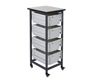 Luxor Mobile Bin Storage Unit - Single Row - Large Bins Mode...