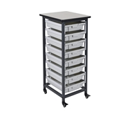 Luxor Mobile Bin Storage Unit - Single Row - Small Bins Mode...