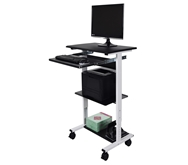 Luxor Three Shelf Adjustable Stand Up Workstation Model Number- STAND-WS30