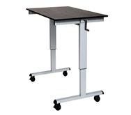 "Luxor 48"" Crank Adjustable Stand Up Desk Model Number- STANDCF48-AG/BO"