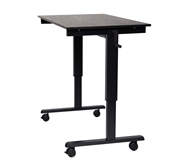 "Luxor 48"" Crank Adjustable Stand Up Desk Model Number- STANDCF48-BK/BO"