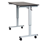 "Luxor 60"" Crank Adjustable Stand Up Desk Model Number- STANDCF60-AG/BO"