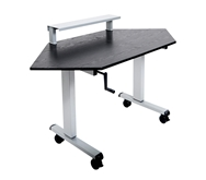 "Luxor 60"" Corner Desk Model Number- STANDUP-CCF60-B"