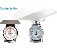 "Spring Scale Painted Body 22-lb Spring Scale, 8"" Dial, 9-1/2"" Square Platter"