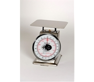 "Spring Scale SS Body, Rotating Dial, Dashpot 2-lb. Spring Scale, Stainless Steel, 8"" SS Platter"