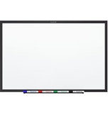 Quartet Standard Magnetic Whiteboard, 5 x 3 Feet, Black Aluminum Frame