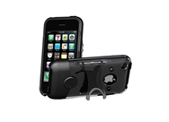 Scosche Co-Molded Kickback Case for iPhone 3G, 3G S (Clear,Black)
