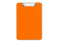 "Sparco SPR01866 Transparent Plastic Clipboard, Flat Clip, 9""x12-1/2"", Neon Orange"