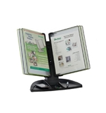 Black Line Desk Stand - 5 Black & 5 Green Pockets