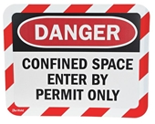 Sign Holder, Adhesive, Confined Space, PK2