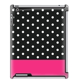 Uncommon LLC Mini Black Dots Block - Fuchsia Deflector Hard Case for iPad 2/3/4 (C0010-FX)