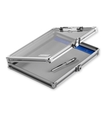 "Locking Storage Clipboard, 8 1/2"" x 11"" - Clear Acrylic - Va..."
