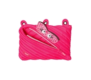 ZIPIT Talking Monstar 3-Ring Pencil Case, Pink