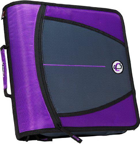 Case-it Large Capacity 3-Inch Zipper Binder, Purple, D-146-PUR