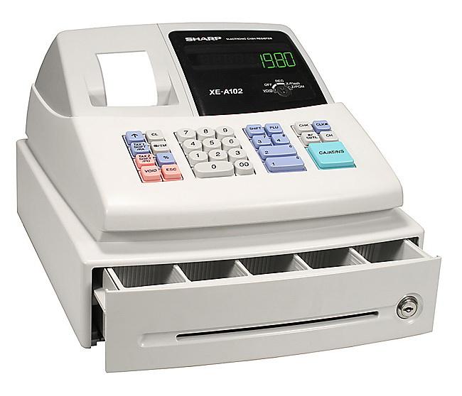 Sharp Xe A102 Rf Cash Register