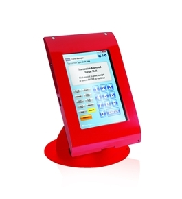 MMF POS Locking Tablet Enclosure Case with Stand for 7-8 Inch Tablets, Red (MMFTE081107)