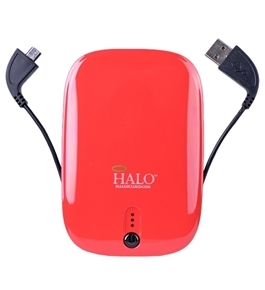 Halo Pocket Power 5500mAh Power Bank w/Mini USB Micro USB Cable & 30-Pin Adapter (Red) Consumer electronics