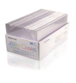 Memorex 5mm Slim CD/DVD Jewel Cases - 50 Pack