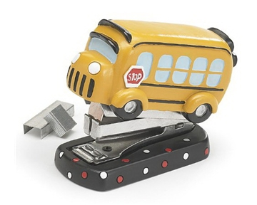 Adorable Mini School Bus Stapler 2000 Staples Included Great Gift for Teachers and Students