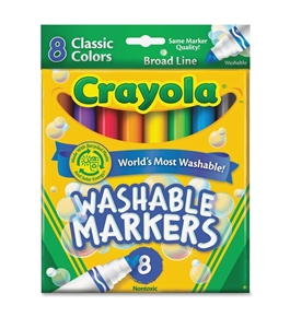 8 Ct Crayola Broad Line Washable Markers Pack Of 6