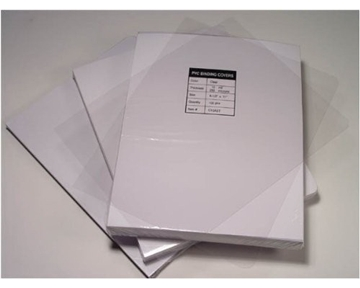 "Akiles 5 Mil 8.75"" x 11.25"" Round Corner With Tissue Interleaving Crystal Clear Binding Covers (100 Pcs)"