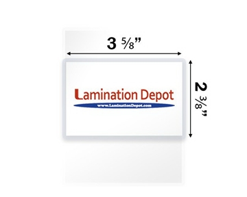 "Akiles 5 Mil Drivers License Laminating Pouches 2-3/8"" x 3-5/8"" (500/box)"