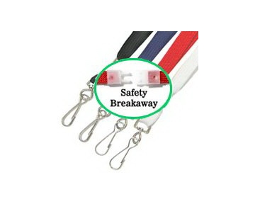 "Akiles Black 35"" Flat Breakaway Lanyards w/Swivel Hook (100 Pcs)"
