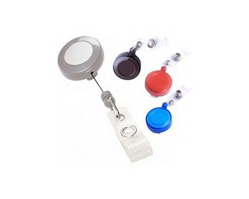 Akiles Silver Retractable Badge Holders (Qty 10)